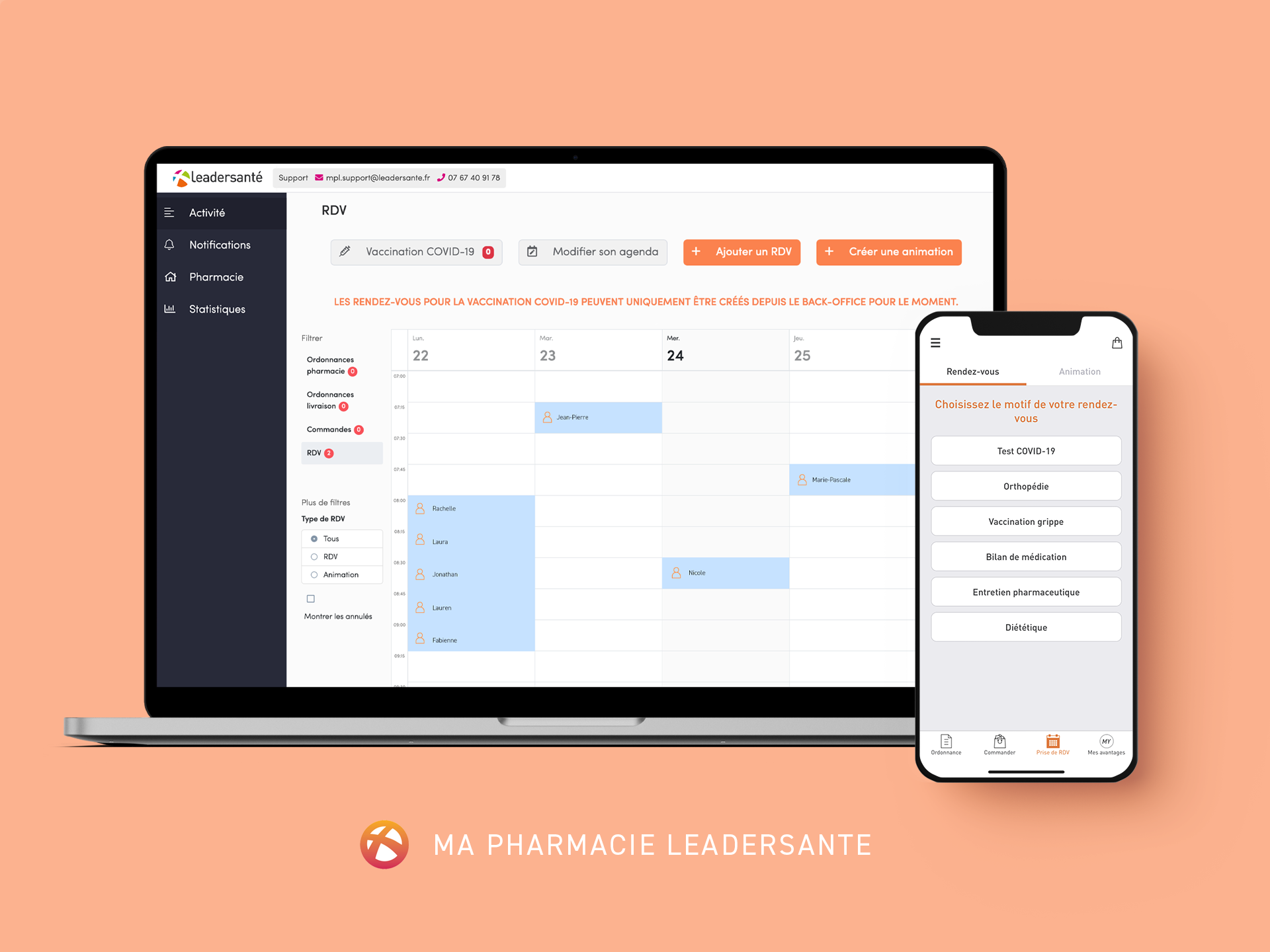 Ma Pharmacie Leadersanté - Application Mobile