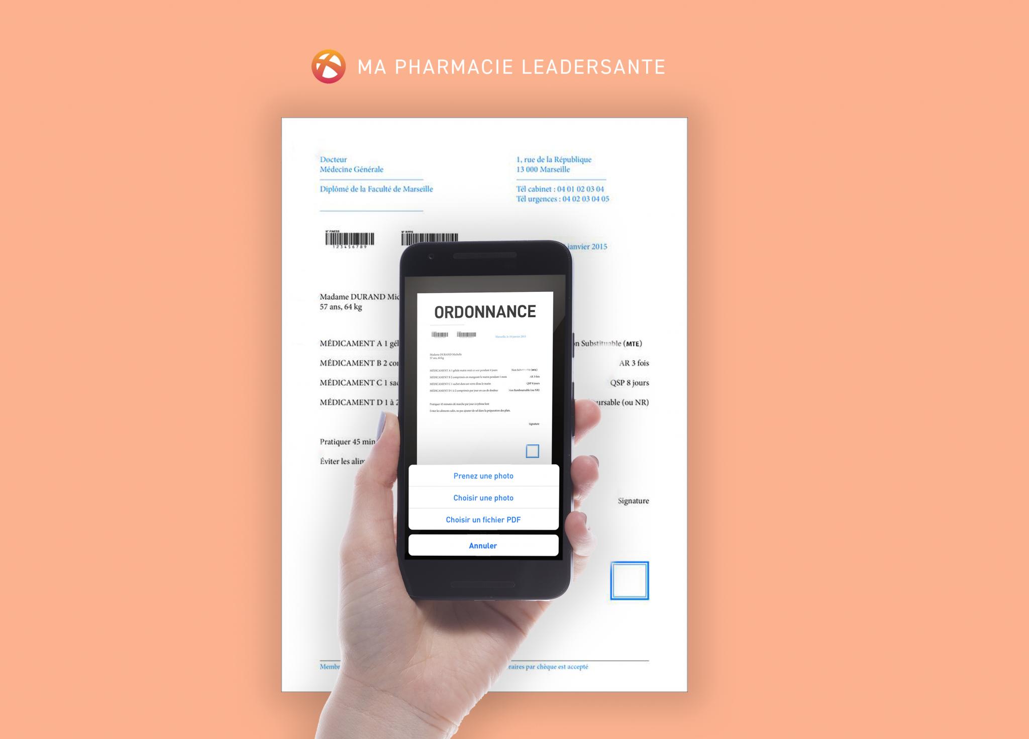 Ma pharmacie Leadersanté - Envoi d'ordonnance